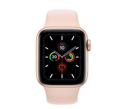 Часы Apple Watch Series 5 40 мм Aluminum Case with Sport Band Gold/Pink Sand (золотистые/розовый песок) MWV72