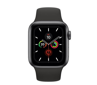 Часы Apple Watch Series 5 40 мм Aluminum Case with Sport Band Space Gray/Black (серый космос/черный) MWV82