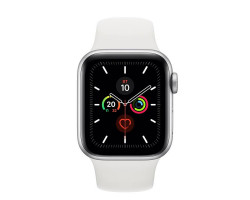 Часы Apple Watch Series 5 40 мм Aluminum Case with Sport Band Silver/White (серебристый/белый) MWV62