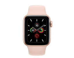 Часы Apple Watch Series 5 44 мм Aluminum Case with Sport Band Gold/Pink Sand (золотистые/розовый песок) MWVE2